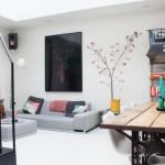 Un loft contemporain au mobilier industriel