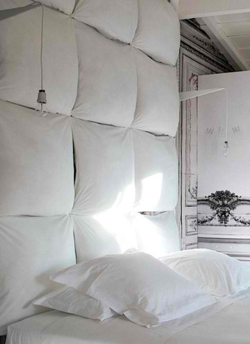 Une chambre blanche comme un cocon - Suite Martin Margiela Les sources de Caudalie