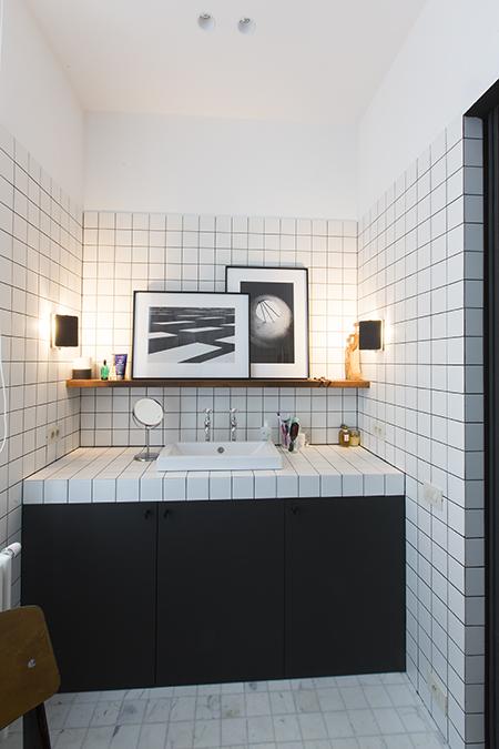 Des idées pour personnaliser sa salle de bain : Penser sa salle de bain en noir et blanc