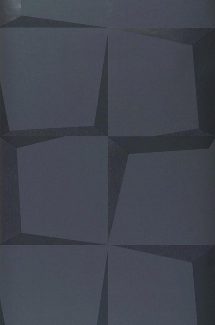 Papier-peint géométrique noir