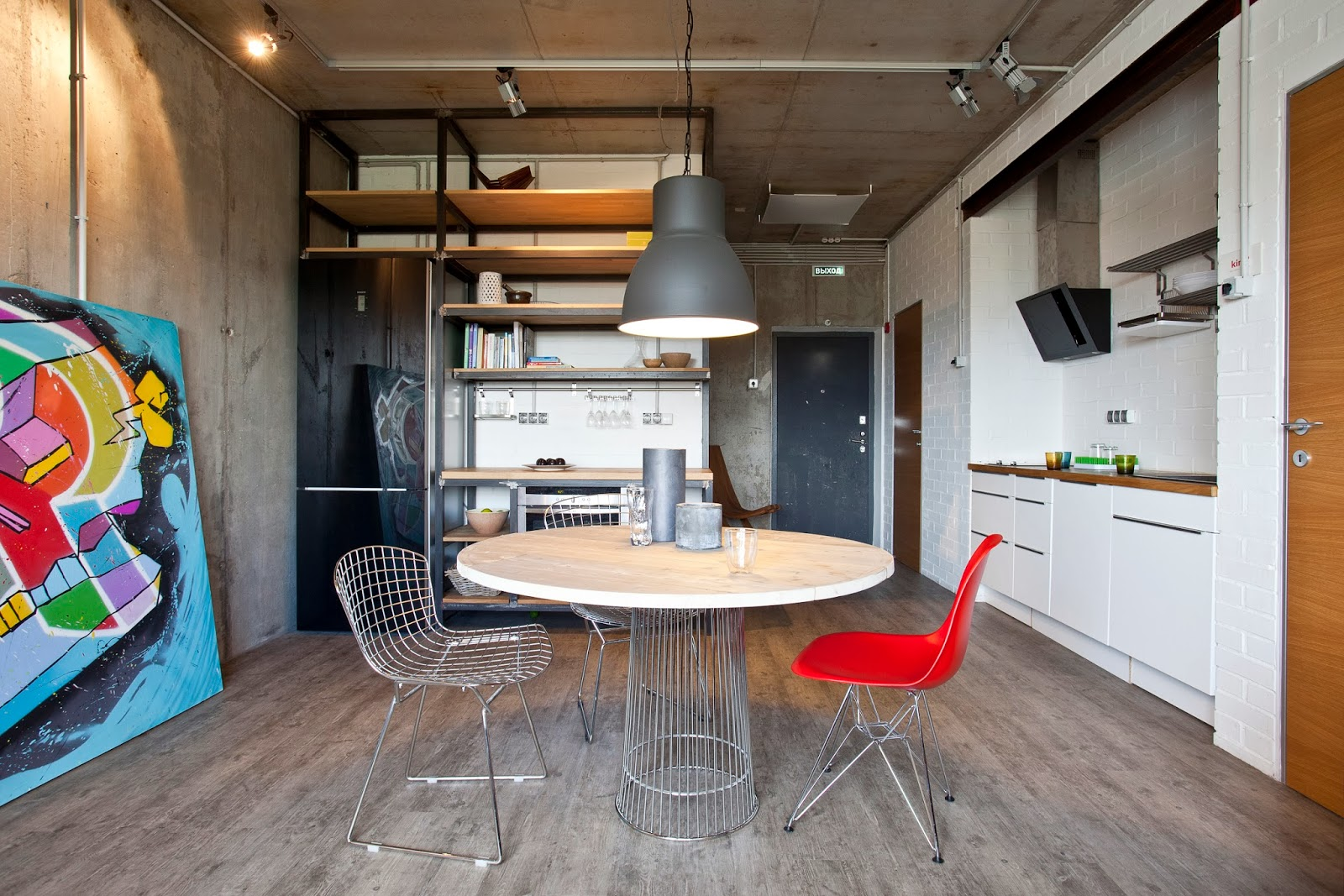 Petit studio dans un style industriel for 40m apartment design