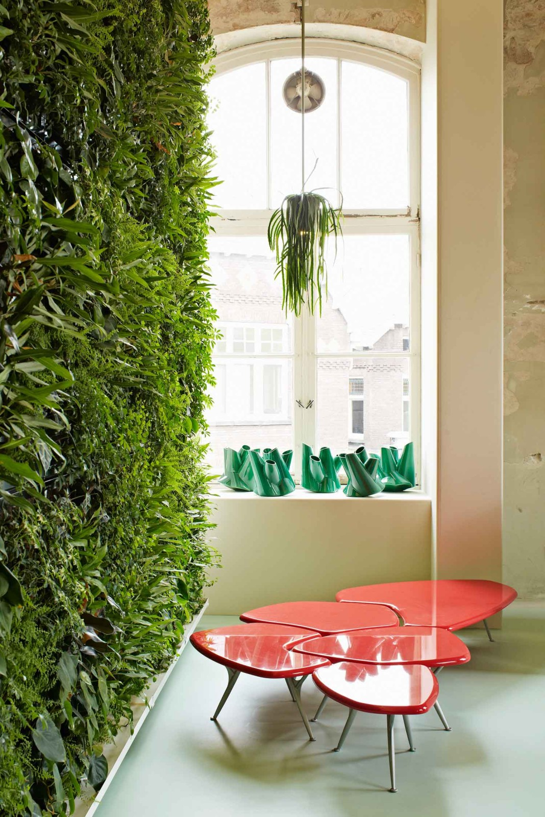 Bucketlight tropical plant fixtures by Roderick Vos
