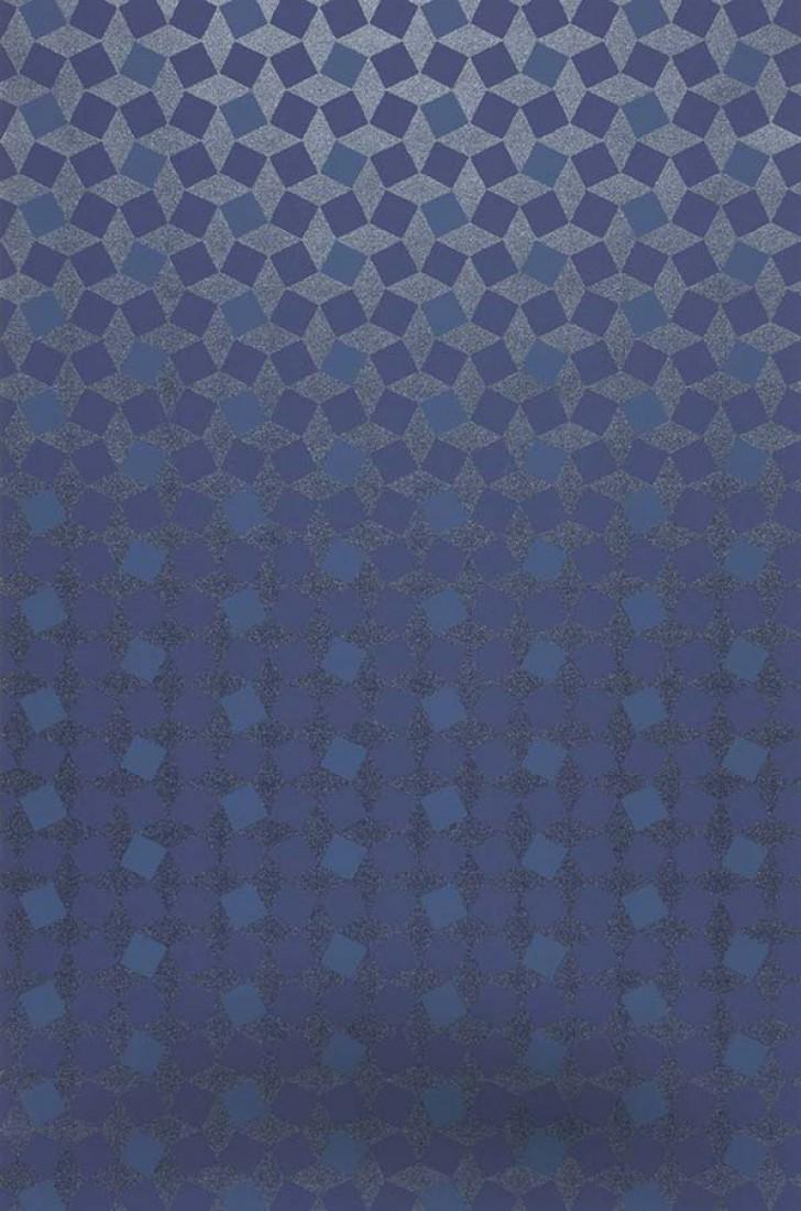Papier-peint géométrique bleu