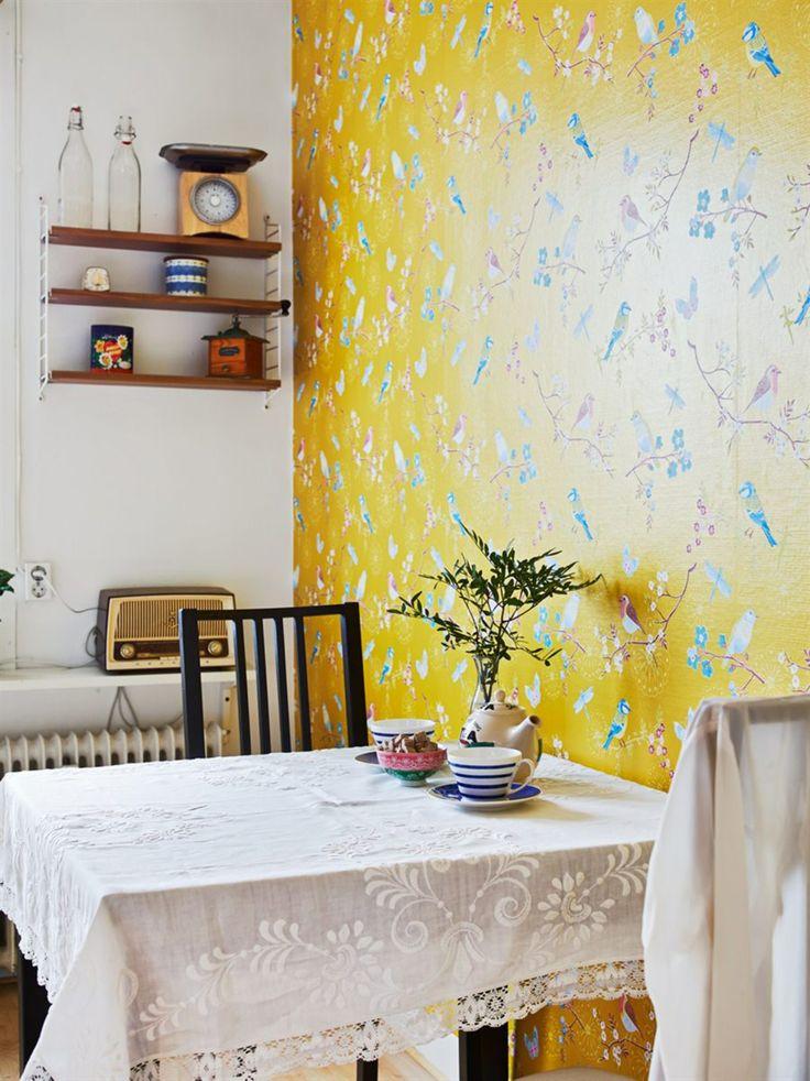 Idée deco : du papier-peint à fleurs