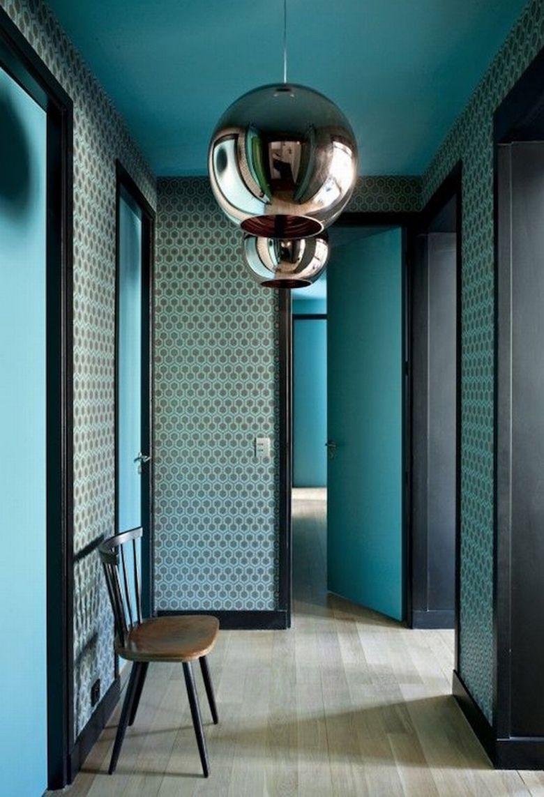 agence doubleg rivoli en mode aqua - Chambre Bleu Paon