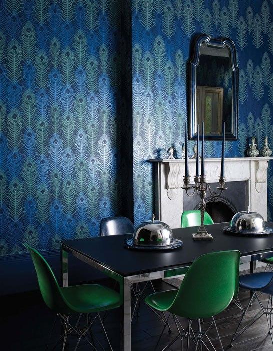 Id es d co du papier peint baroque et glamour - Idee deco wallpaper volwassene kamer ...