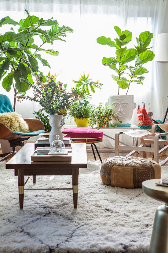 Donner des airs de jardin tropical à son intérieur | designlovefest My new living room