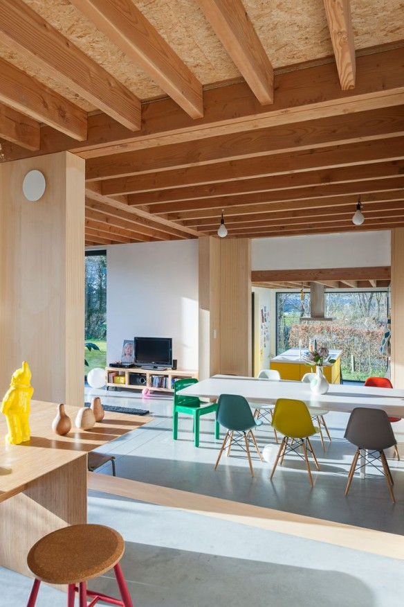 Une maison contemporaine pleine de vie for Prix poutre en i osb