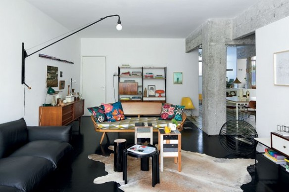 Un appartement vintage la d coration informelle et chic - Appartement renove avec un cote vintage ...