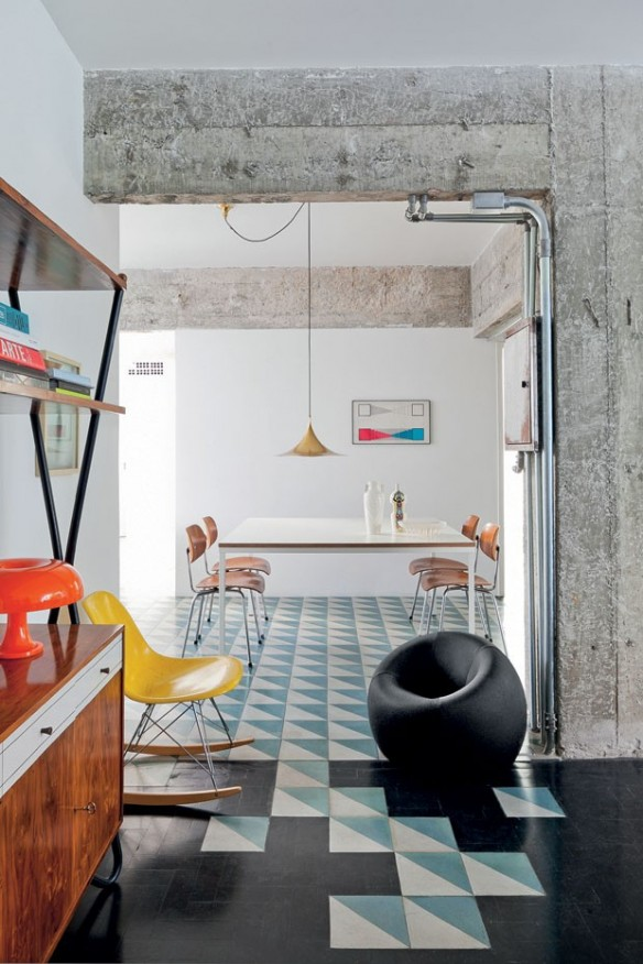 Booster sa déco avec des carreaux de ciment || Felipe Hess architecte - Appartement à São Paulo