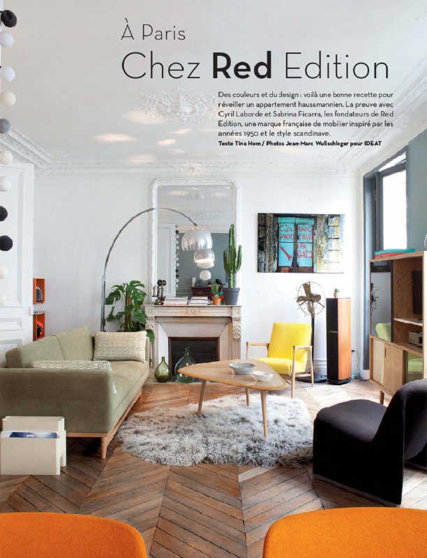 Red edition - Sabrina Ficarra & Cyril Laborde Paris apartment - IDEAT avril 2014