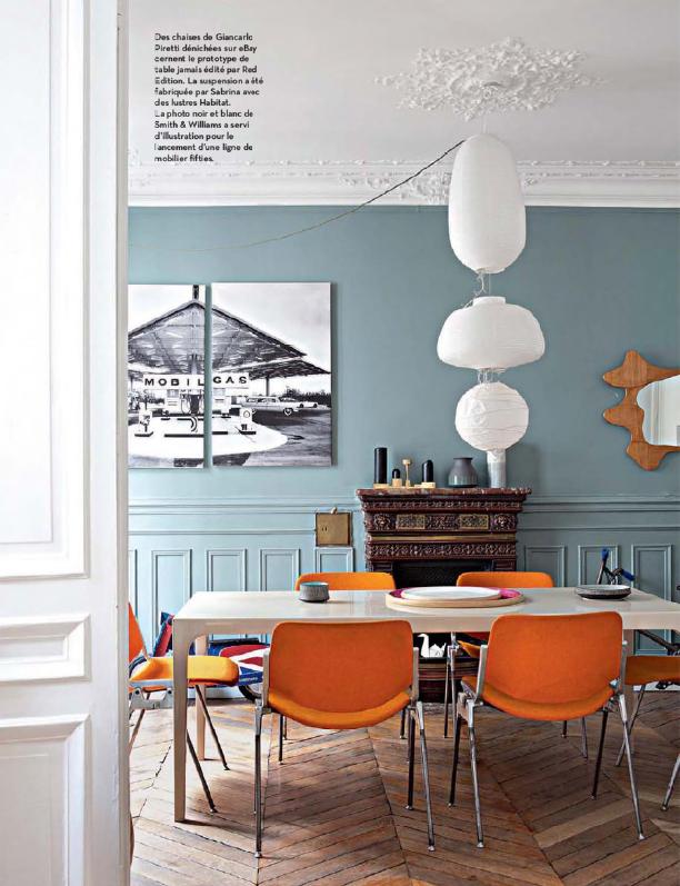 chez red dition l 39 haussmannien en mode r tro. Black Bedroom Furniture Sets. Home Design Ideas