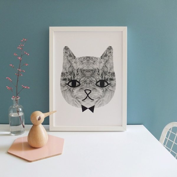 Audrey Jeanne - Sweetest cat poster