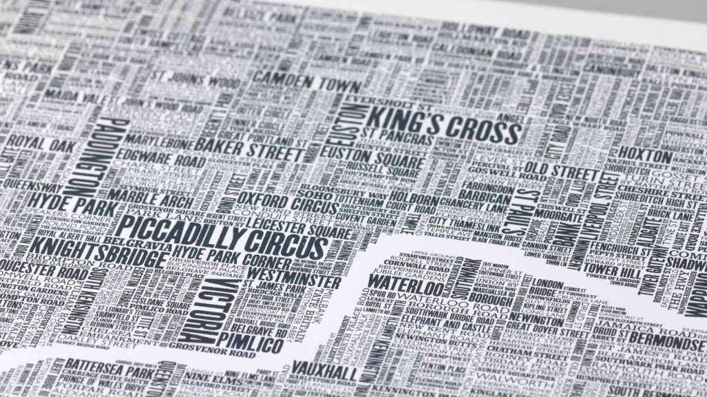 London map by Boble and Noble