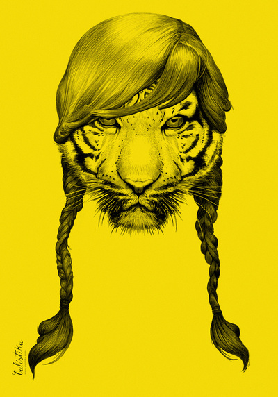 Rock candy tiger sur society6