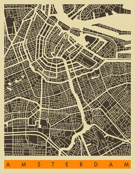 Amsterdam map by Jazz Berry Blue