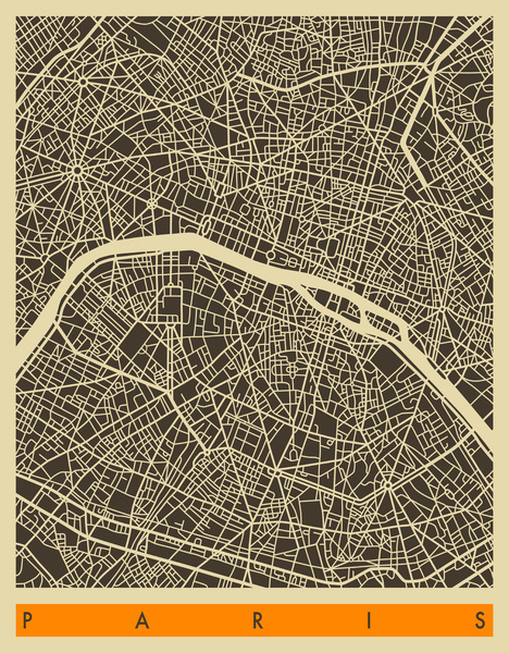 Paris map by Jazz Berry Blue