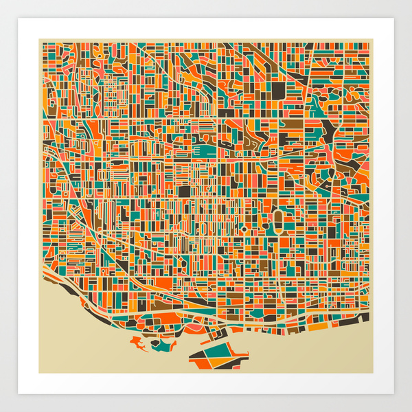 Toronto map by Jazz Berry Blue