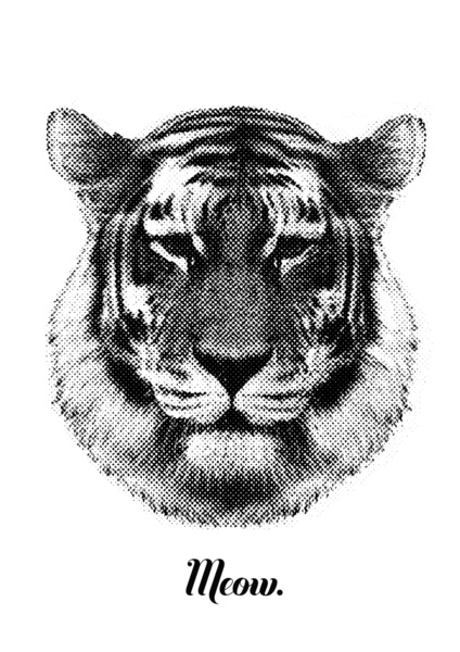 Tiger says meow sur society6