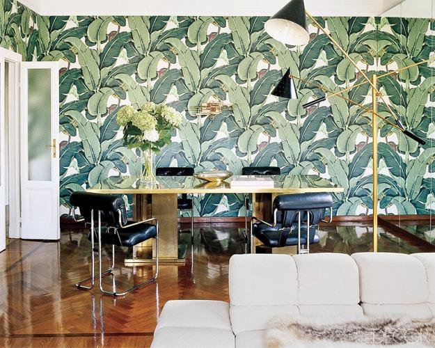 """Papier-peint """"Martinique"""" Hinson, modèle iconique du Beverly Hills Hôtel"""