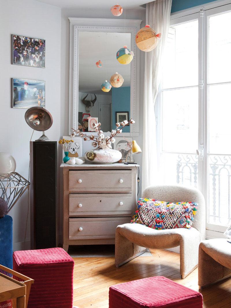 Bazar chic pour l'appartement parisien de Madeleine & Matias