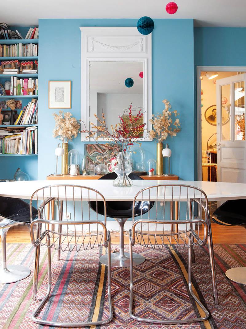 Bazar chic pour cet appartement parisien - Peinture lumineuse pour salon ...