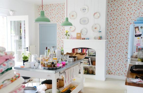 Obsession une cuisine am nag e bois et noir - Idee deco wallpaper volwassene kamer ...