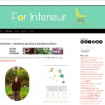 Une interview sur le blog de For Interieur