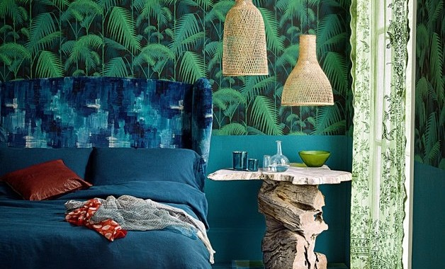 Papier-peint «La forêt d'émeraude»