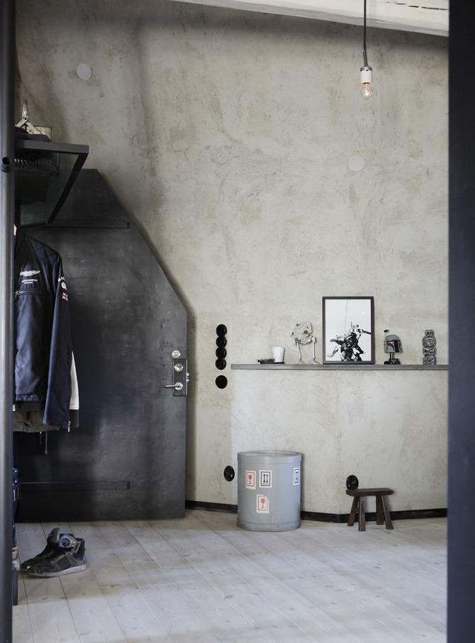 Palette de matière : Aspect ciment et béton brut | L'intérieur de Johan Israelson à Stockholm
