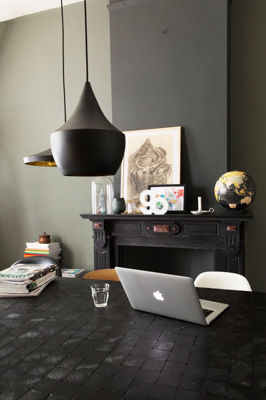 Osez les couleurs noires en déco | La maison de Jelle et Theo Bert au Pays Bas