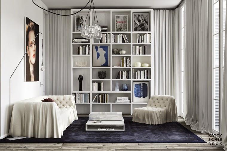 Un appartement comme une scène de théâtre à Barcelone par Katty Schiebeck