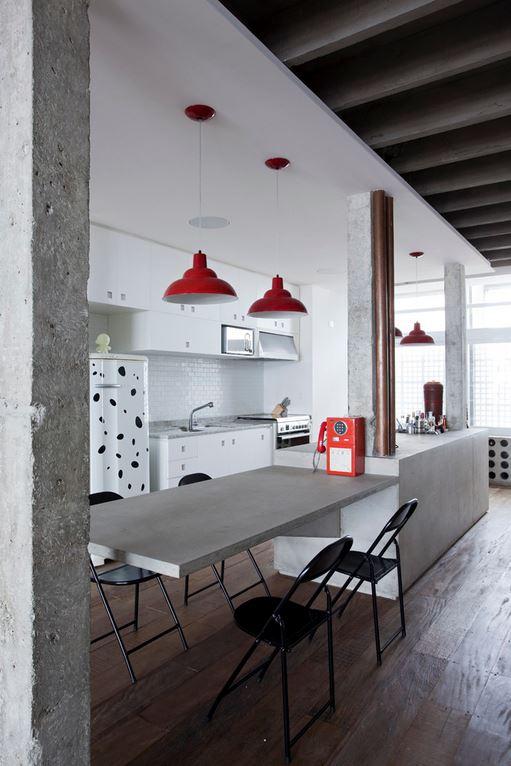 Palette de matière : Aspect ciment et béton brut | Copan apartment São Paulo, Brazil - Felipe Hess & Renata Pedrosa