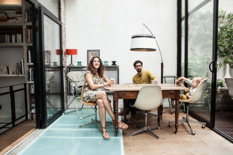 Ancienne imprimerie Paris 11 transformée par l'architecte Miriam Gassman en loft familial