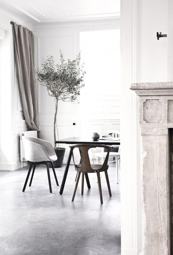 Palette de matière : Aspect ciment et béton brut | Norm-architects interiors