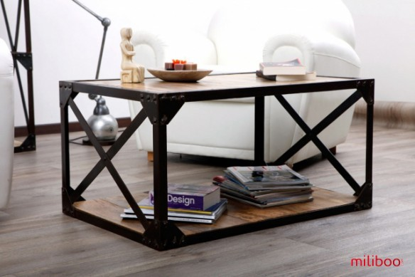 table basse industrielle photos accueil design et mobilier. Black Bedroom Furniture Sets. Home Design Ideas