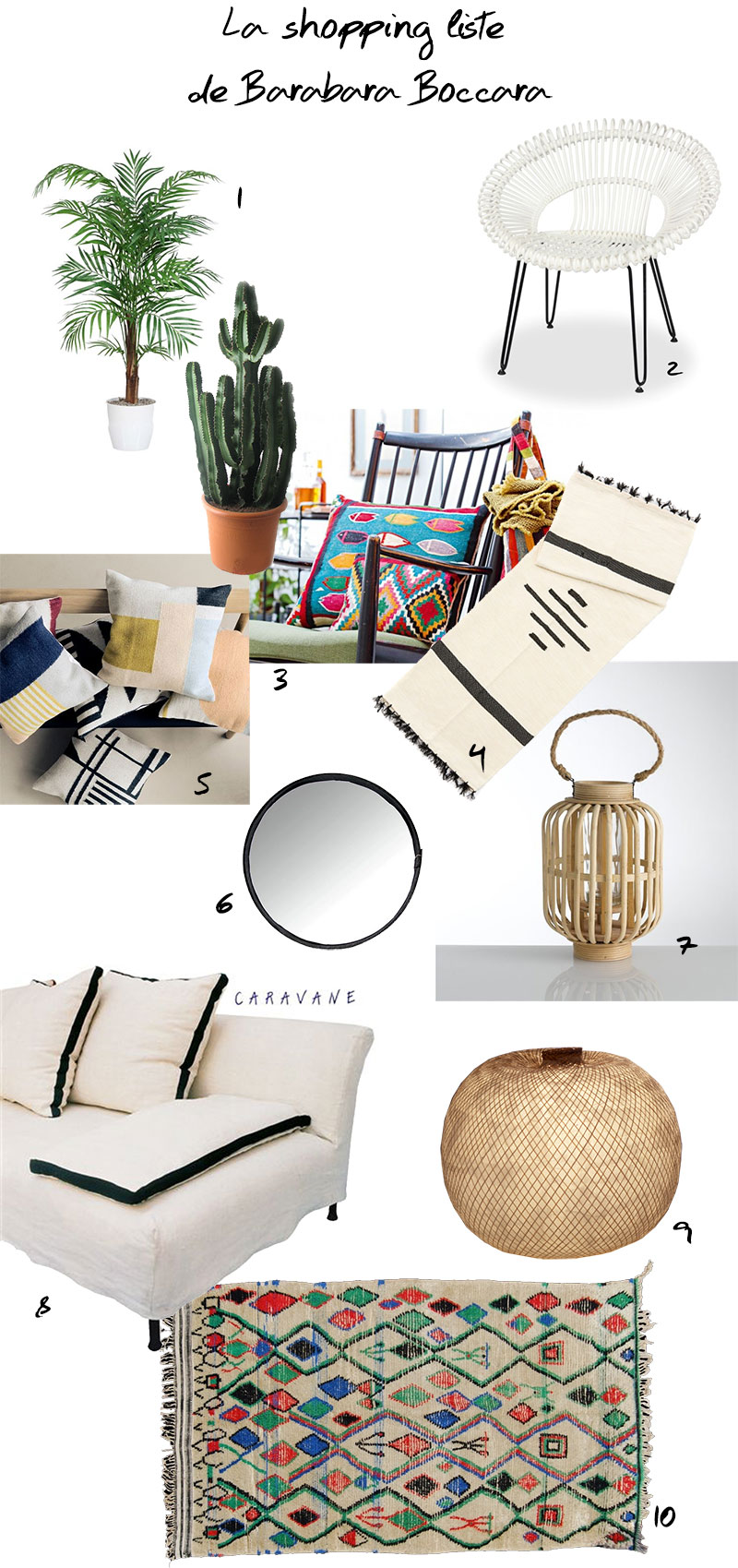 Shopping liste Barbara Boccara