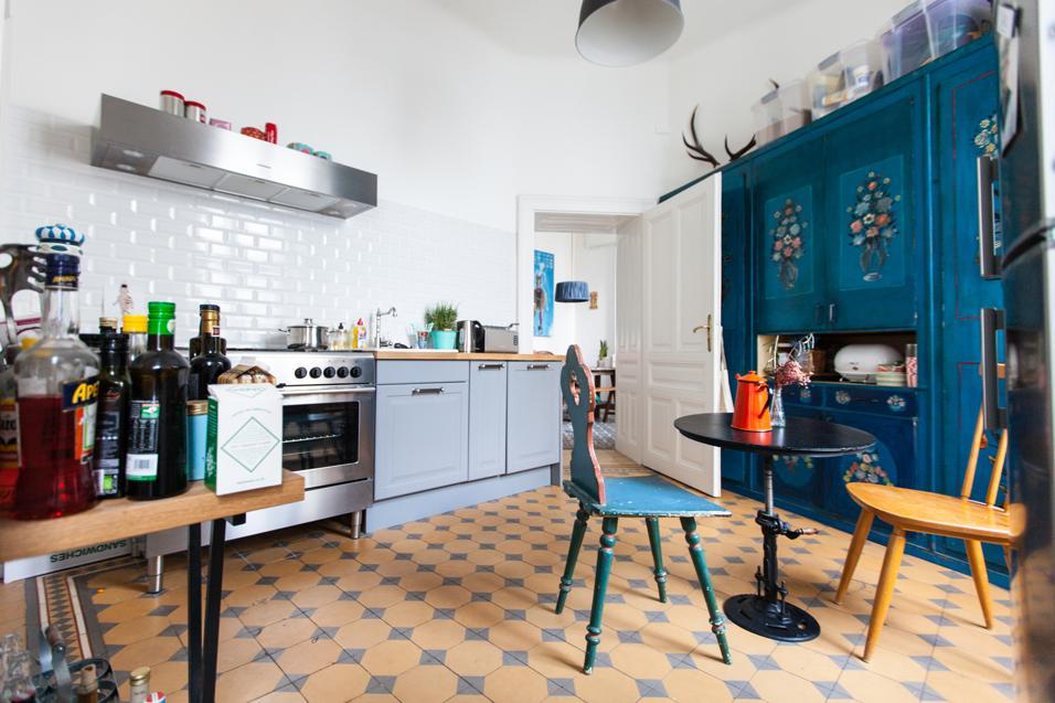 L'appartement / bureau de Laura Karasinski à Vienne, ambiance récup' chic