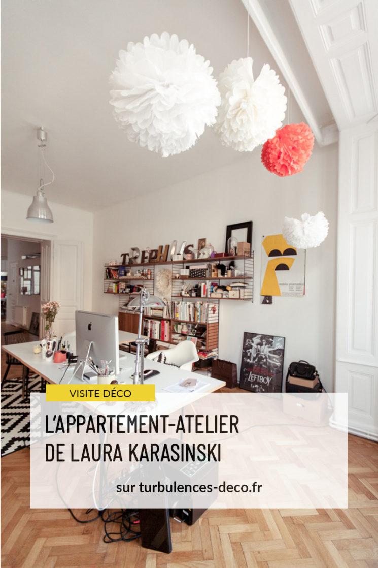 Visiter l'appartement atelier de Laura Karasinki à Vienne sur Turbulences Déco