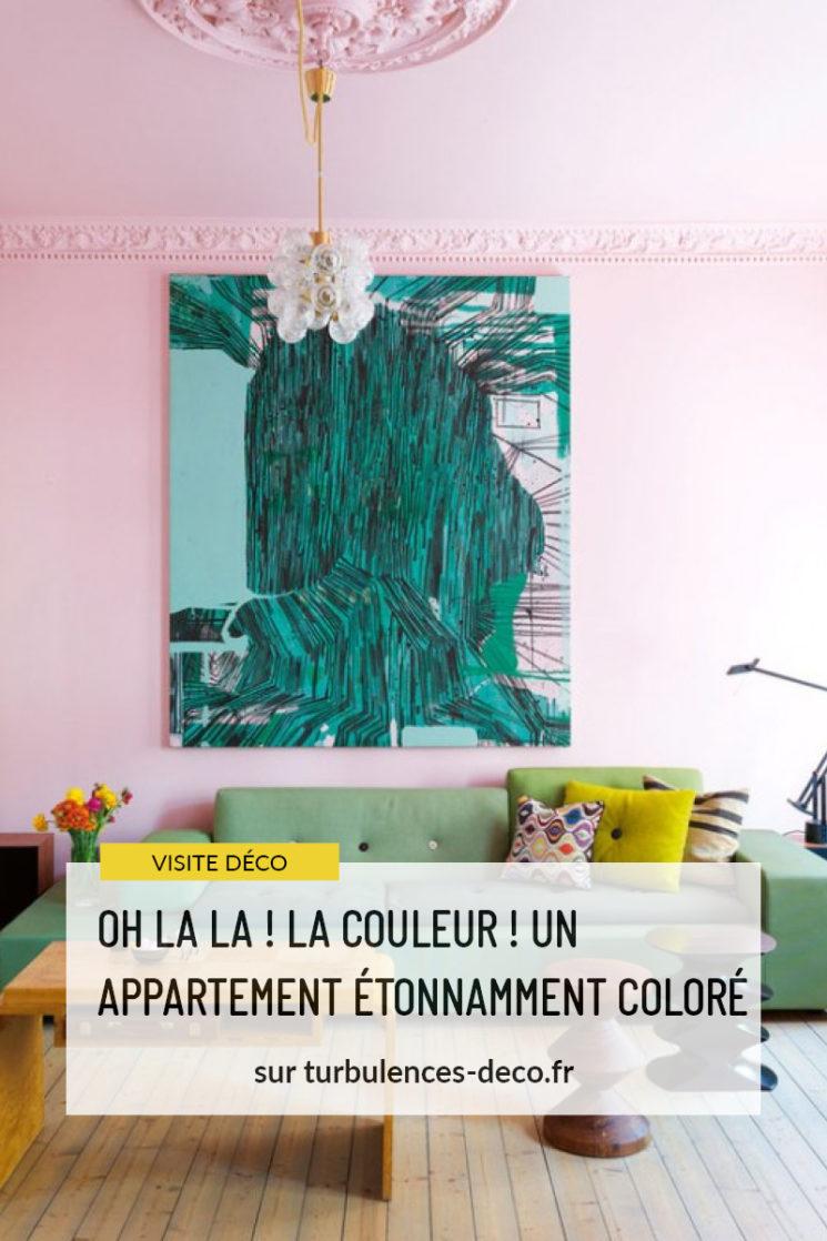 Un appartement étonnamment coloré à découvrir sur Turbulences Déco