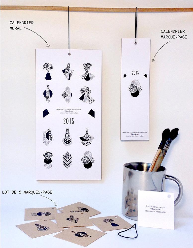 Calendrier 2015 Birdo par Adena Carmin