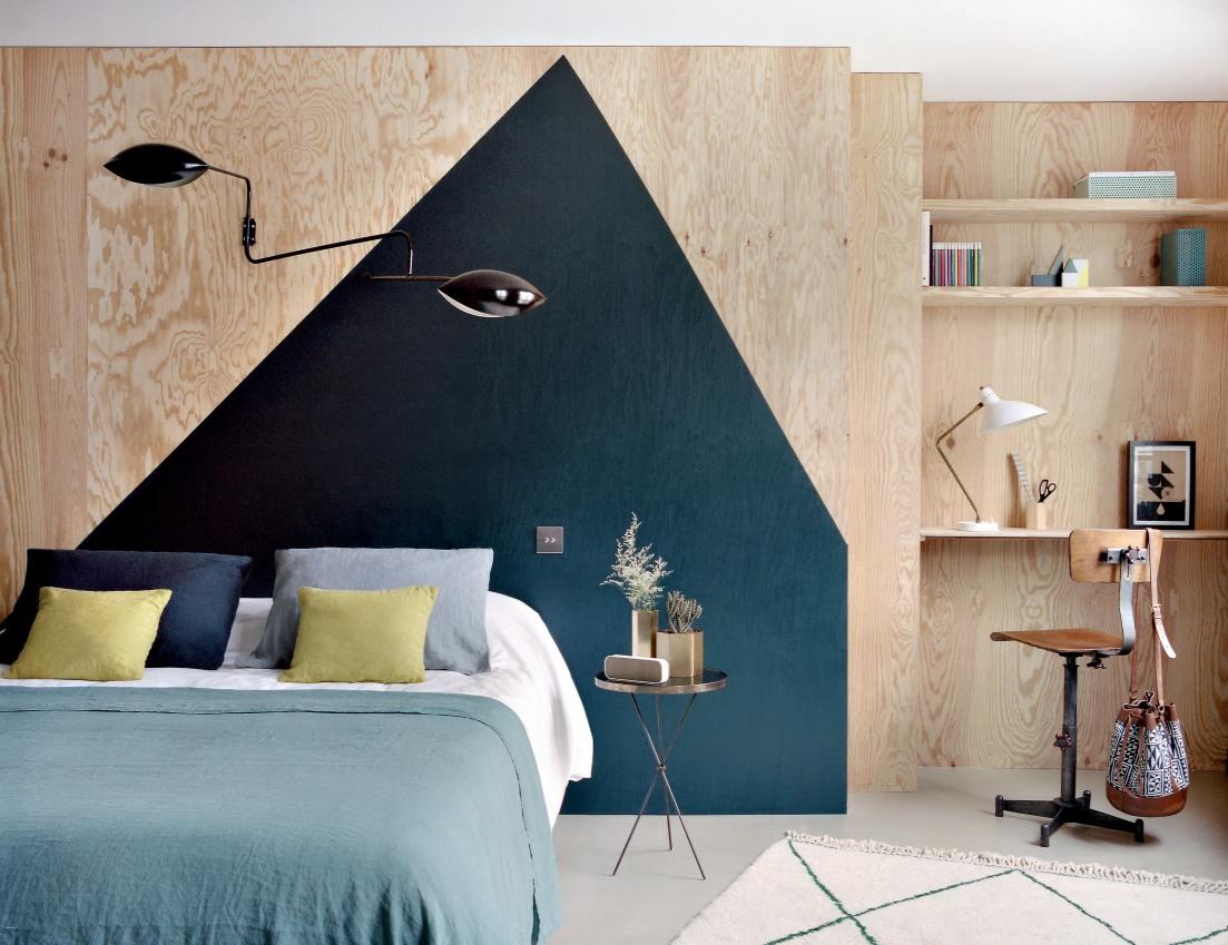 10 idées déco pour une chambre à coucher stylée // Se fabriquer une tête de lit en contreplaqué ou en pin // Hôtel Henriette à Paris