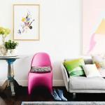 L'appartement coloré de l'artiste Miranda Skoczek