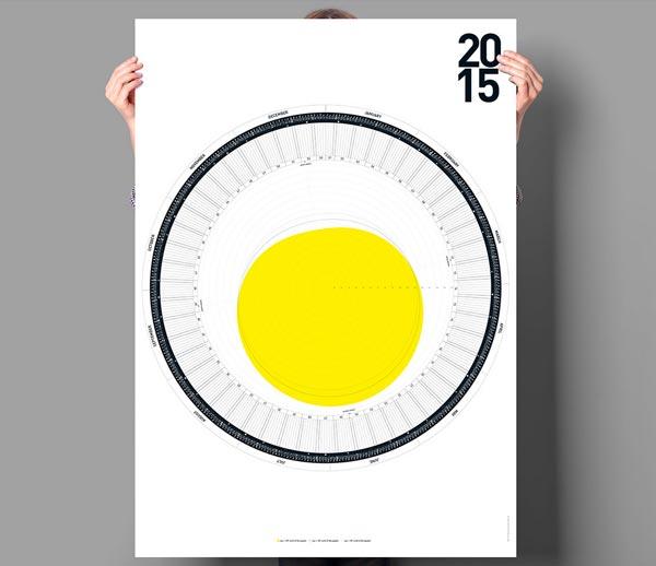 Circular calendar 2015