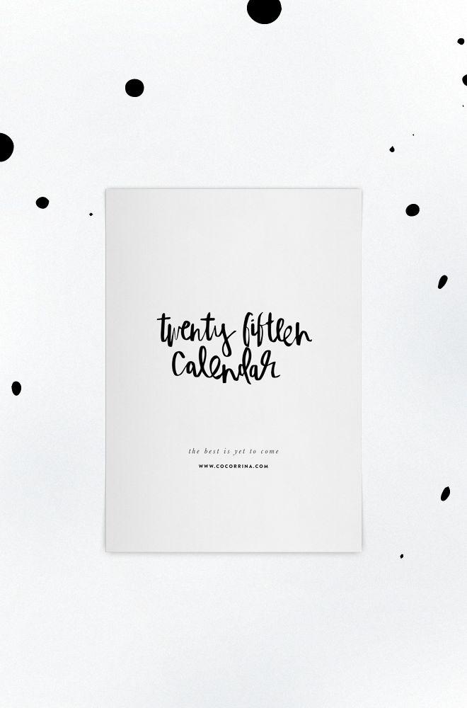 [ Sélection shopping ] Calendrier 2015 // design Cocorrina