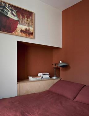 Element S design agency - Paris appartement T || Marsala Pantone couleur 2015