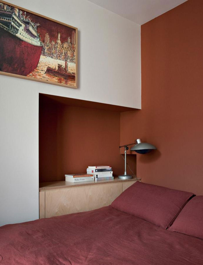 Element S design agency - Paris appartement T || Marsala Pantone couleur 2015