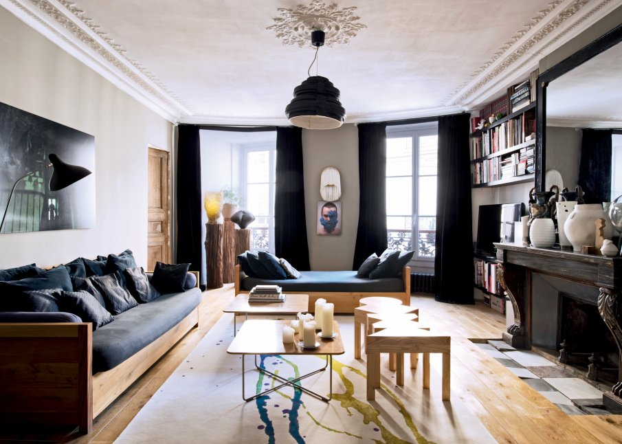 Entre classicisme et contemporan it pour cet appartement - Salon parisien ...