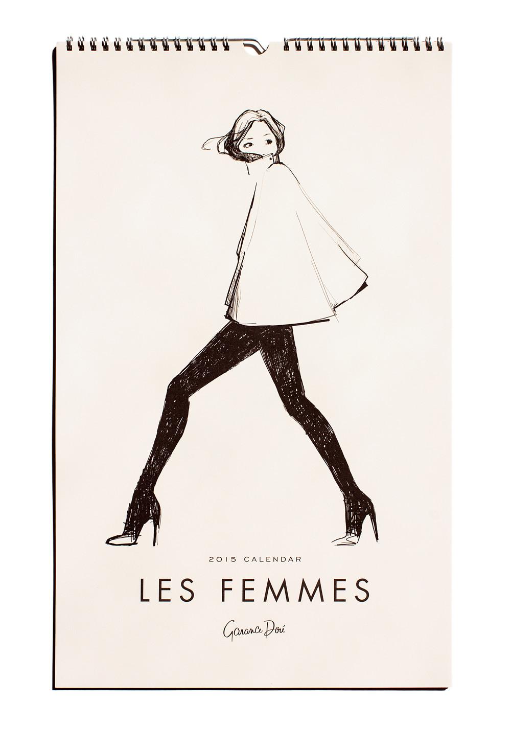Les femmes calendar 2015 design Garance Doré