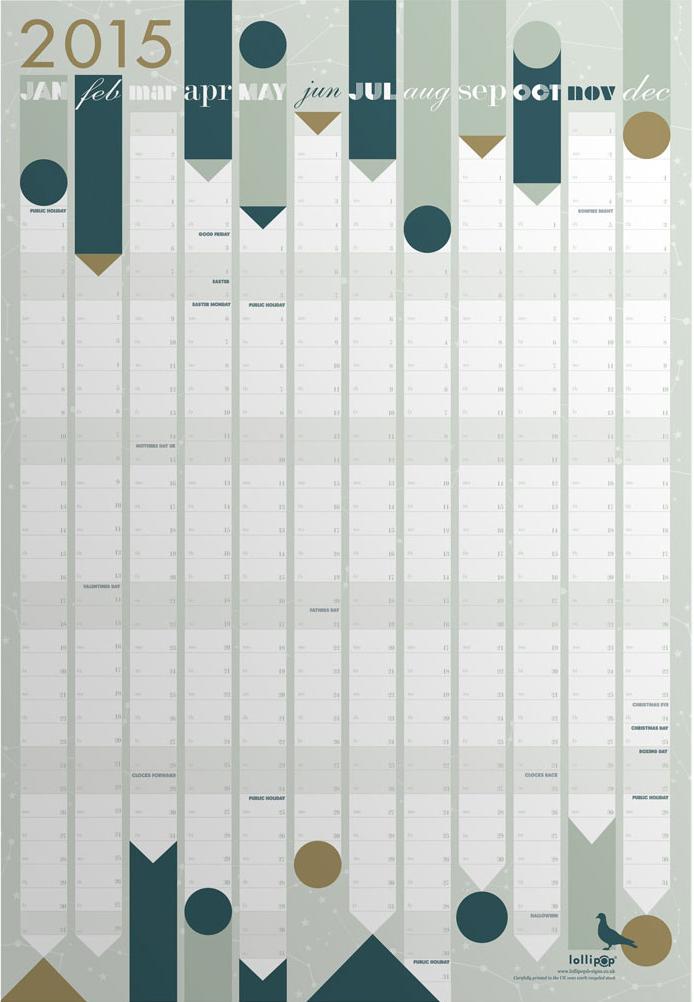 Calendrier planning - design Lollipop